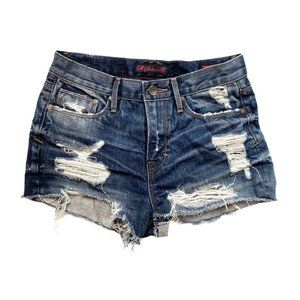 Cult Of Individuality Rockability Jean Shorts Blue
